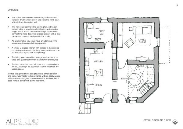 Page 10 : suggested first floor layout, option B